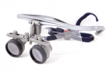 Binocular Dental Glasses. 2x Magnification. Galileo (Galilean) schema
